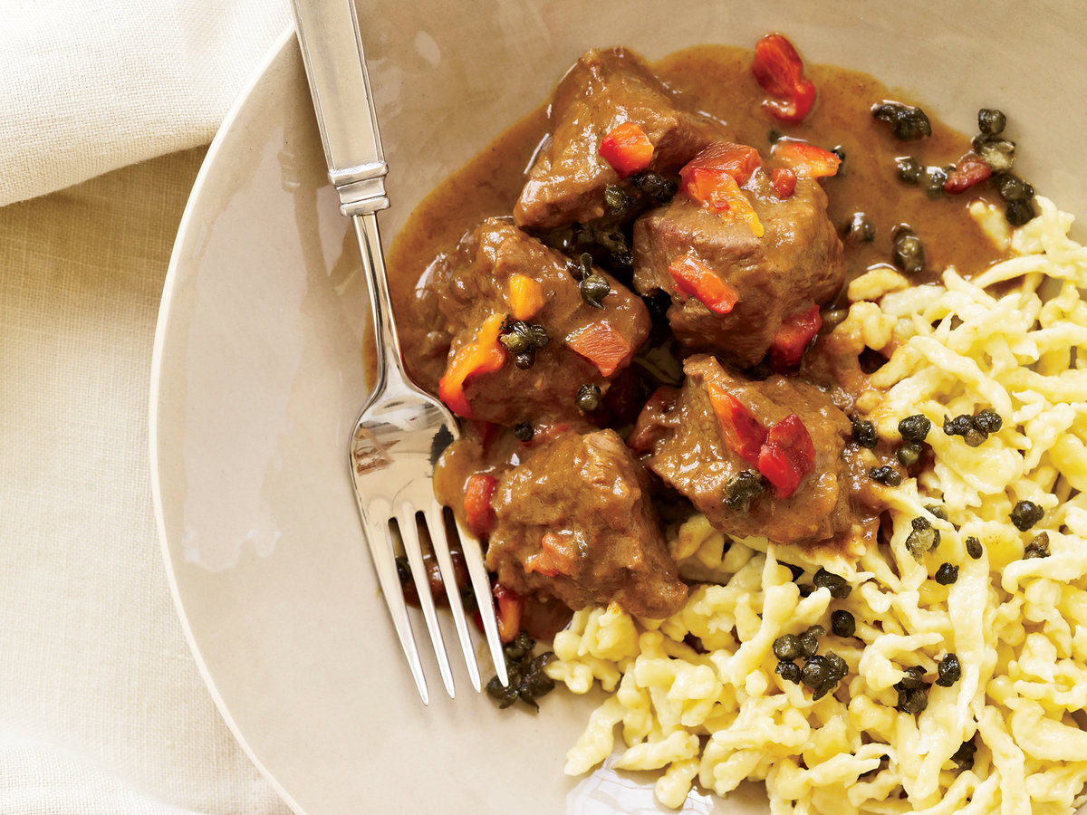 Veal Goulash with Paprika, Caraway and Fried Capers Recipe ...