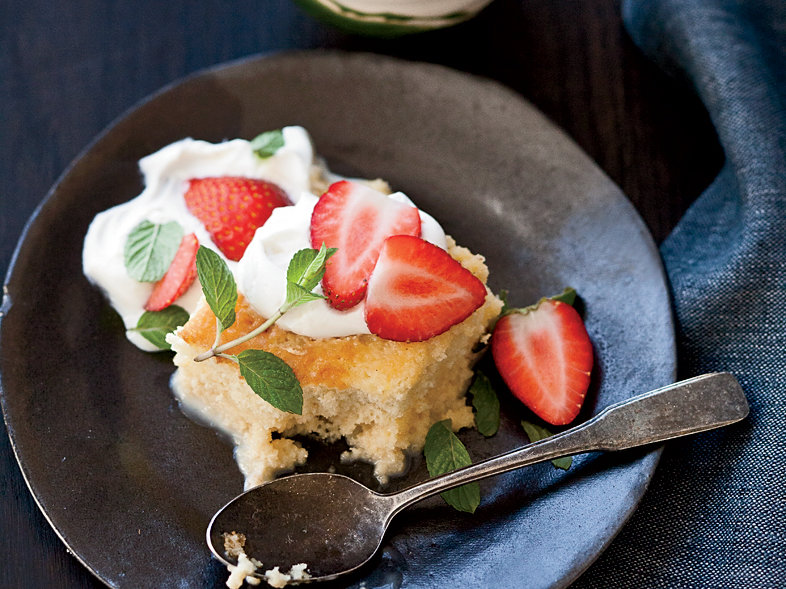 Tres Leches Cake W Strawberries   F W