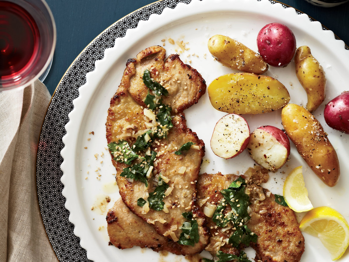 Veal Scaloppine with Wilted Parsley, Lemon and Sesame ...