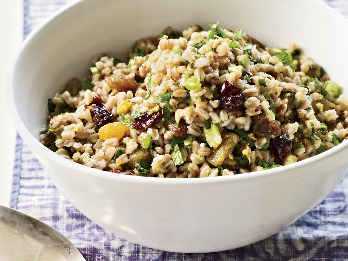 Farro Salad with Winter Fruit, Pistachios and Ginger ...