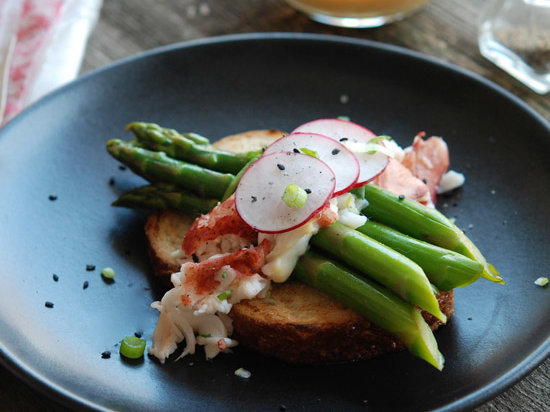 Lobster-and-Asparagus Salad with Miso-Mustard Vinaigrette Recipe - Andrew Zimmern | Food & Wine