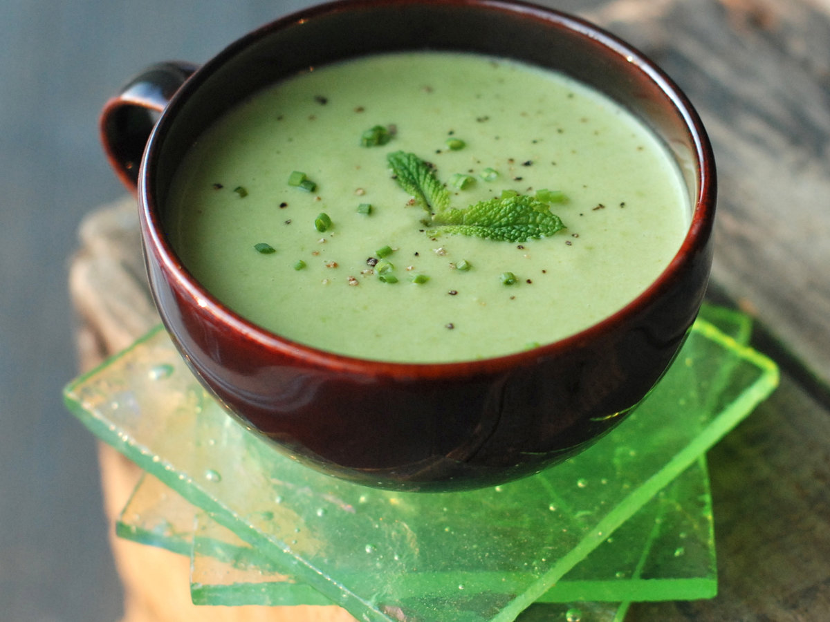 Pea-and-Parsnip Vichyssoise with Tarragon Recipe - Andrew ...