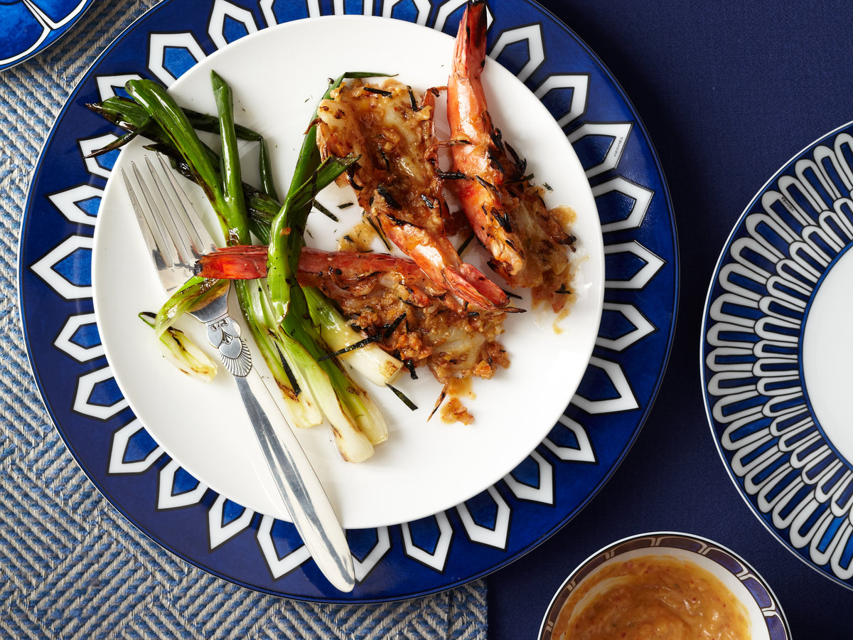Grilled Jumbo Shrimp with Kimchi-Miso Butter Recipe ...