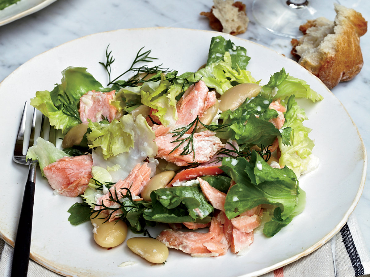 Poached-Salmon Salad Recipe - Grace Parisi | Food & Wine