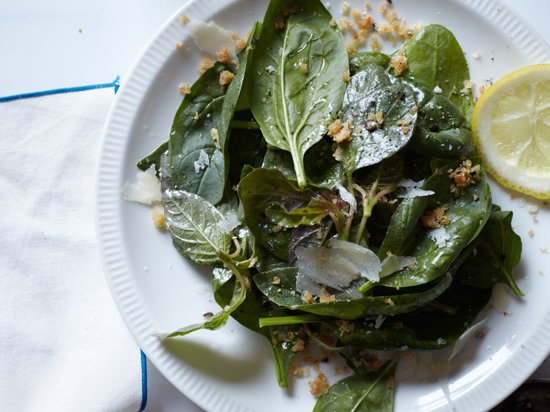 Spinach Salad with Bagna Cauda Dressing Recipe | Food & Wine