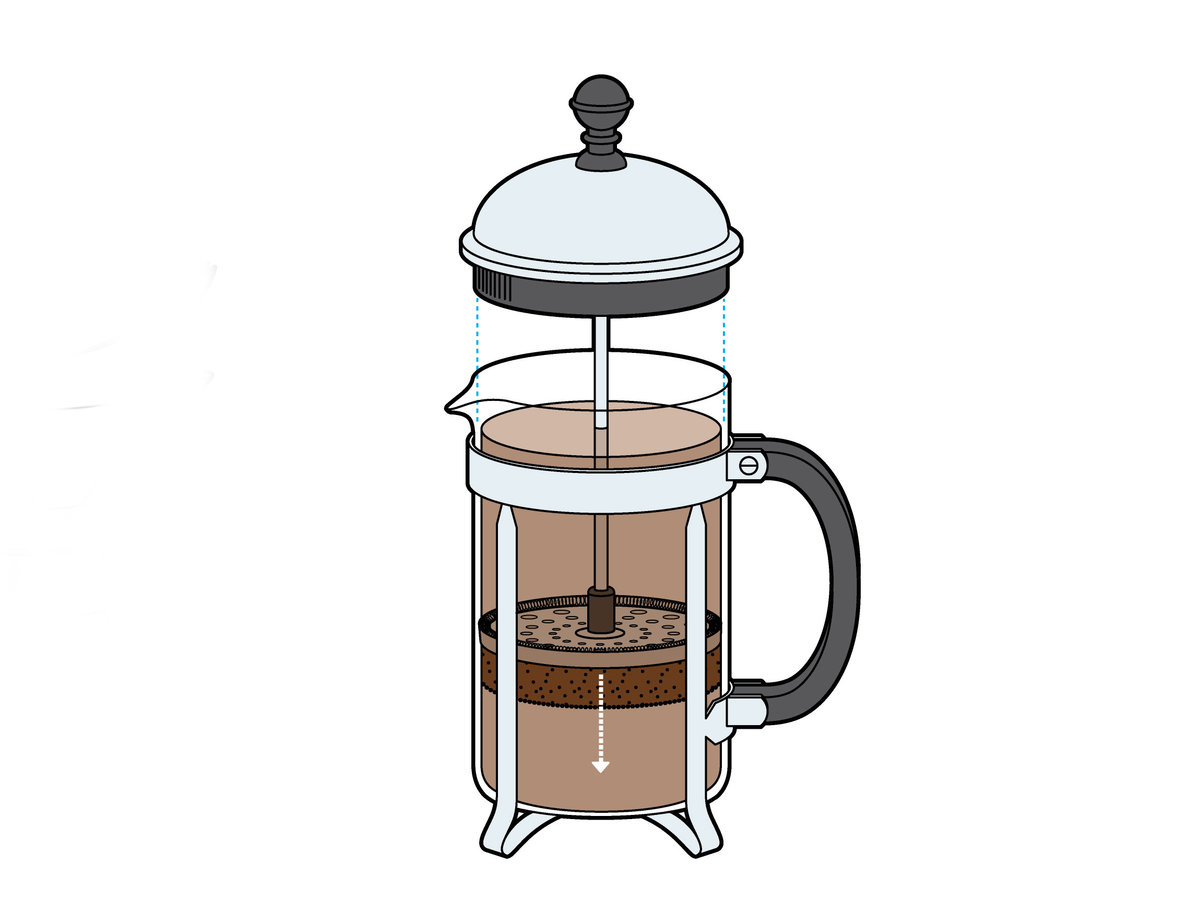 french press brewed coffee recipe food wine. Black Bedroom Furniture Sets. Home Design Ideas