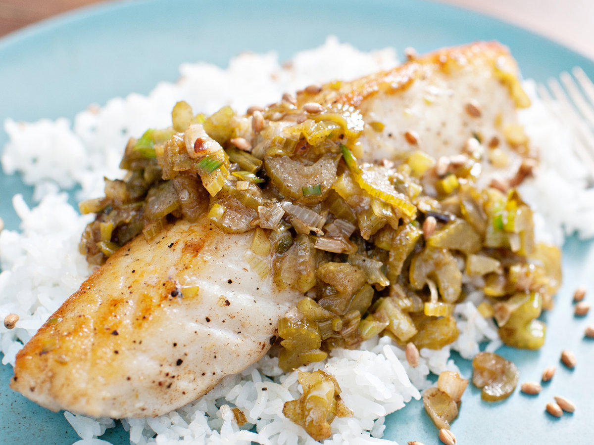 Halibut with brown butter lemon and aged fish sauce for Lemon fish sauce recipe