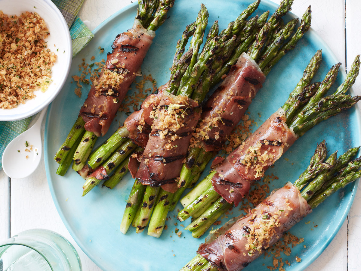 Prosciutto-Wrapped Asparagus with Lemony Bread Crumbs ...