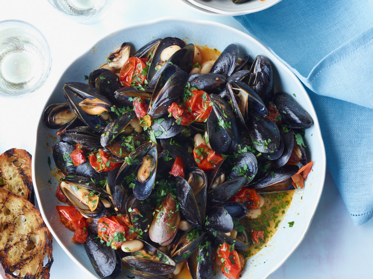 Mussels With White Beans And Chorizo Recipe Michael