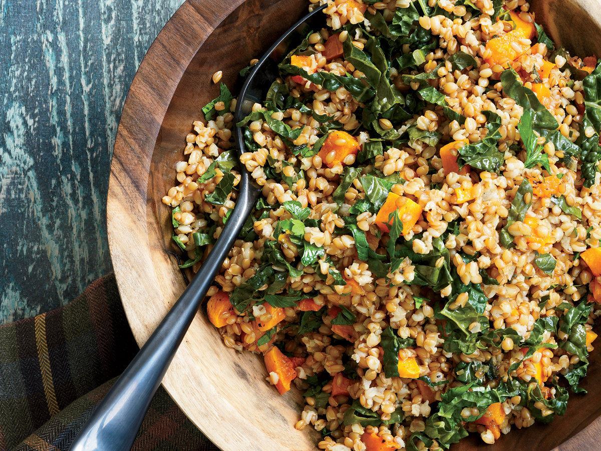 Wheat Berry Salad with Tuscan Kale and Butternut Squash ...