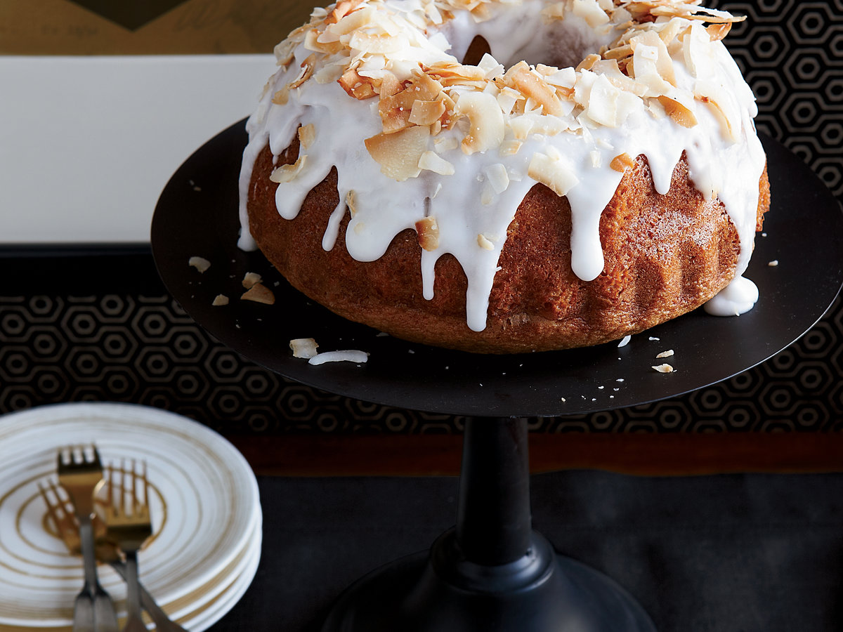 Coconut Chiffon Bundt Cake With Coconut Frosting Recipe