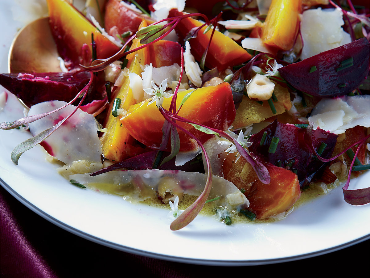 Roasted Beets with Hazelnuts and Goat Cheese Recipe - Ben ...