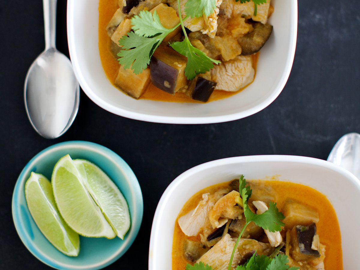 Chicken And Eggplant Red Curry