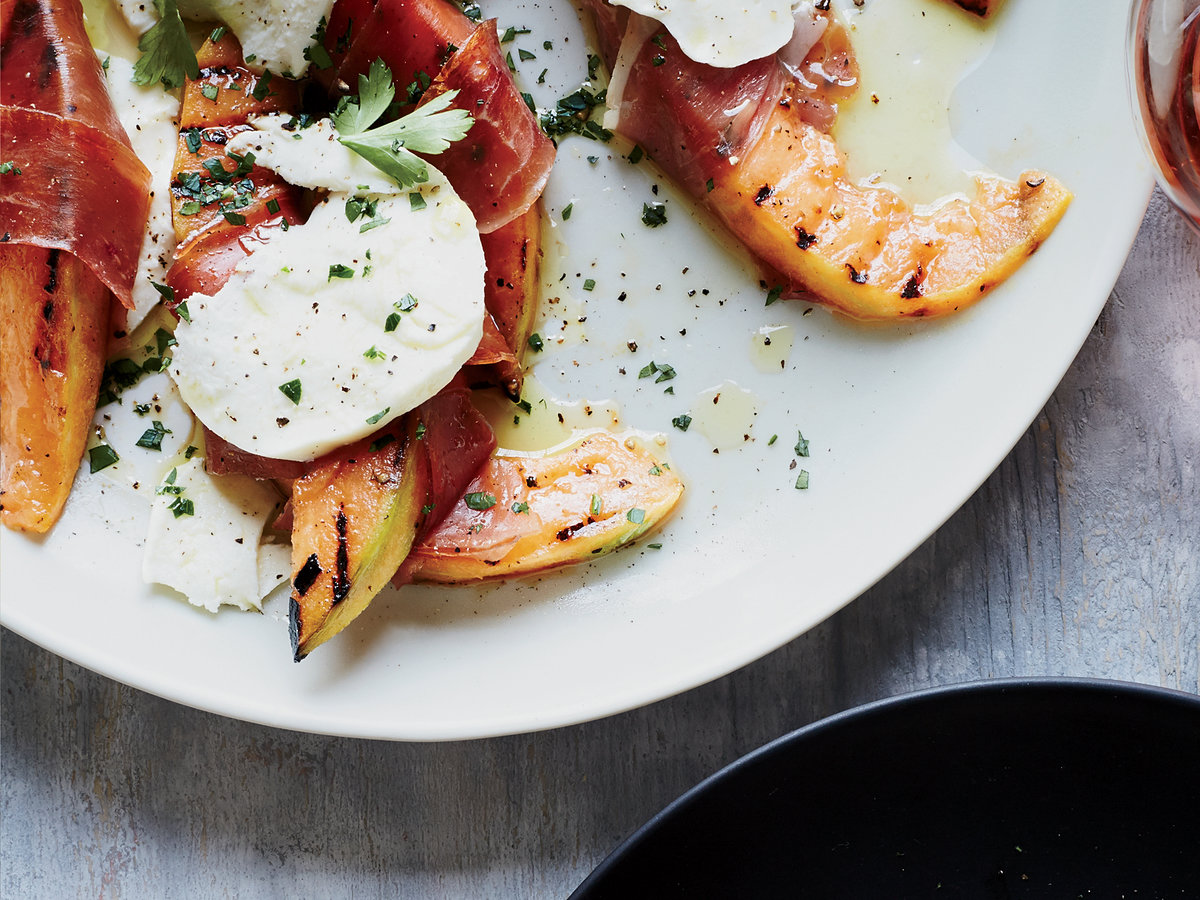 May 29: Grilled Cantaloupe with Prosciutto and Mozzarella