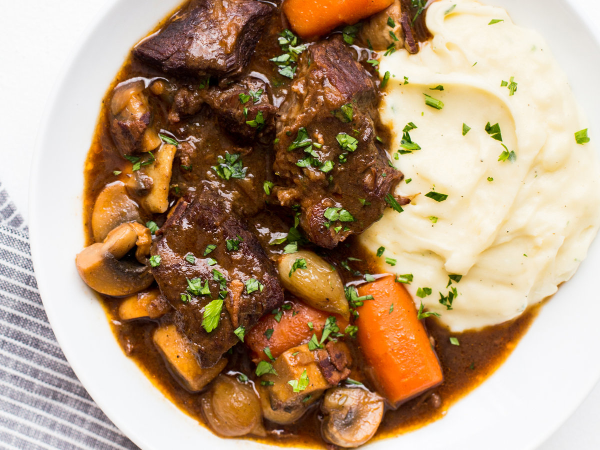 Cooking With Champagne Beef Bourguignon Recipe Food Amp Wine Recipe