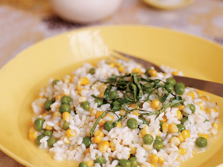 Corn and Pea Risotto