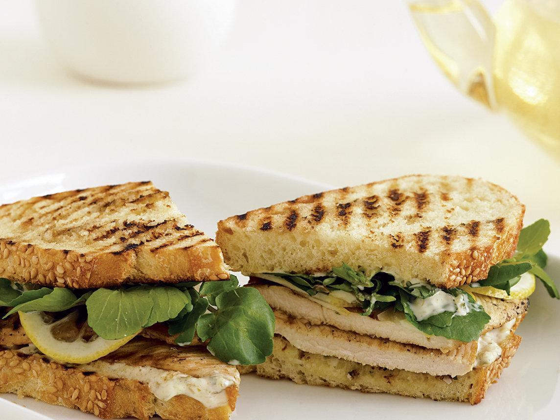 Grilled Chicken Sandwiches with Remoulade and Shaved Lemon