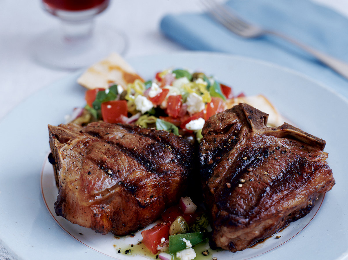 Grilled Ouzo-and-Nutmeg Lamb Chops