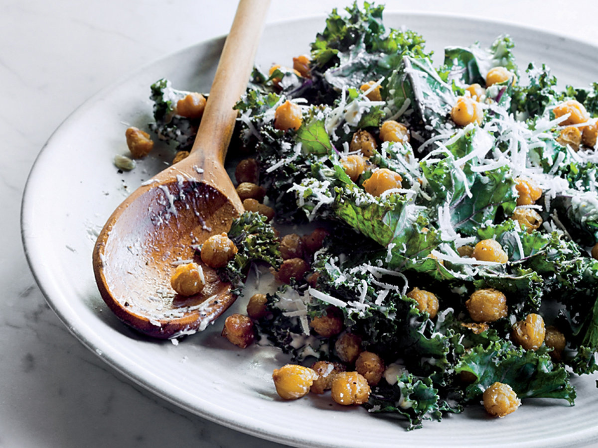 Kale Caesar with Fried Chickpeas Recipe - Justin Chapple ...
