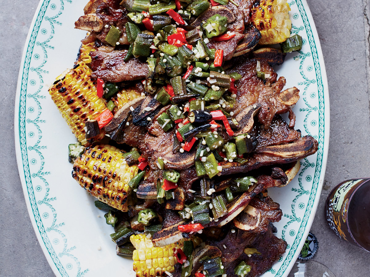 Kalbi Ribs and Grilled Corn with Kalbi Butter