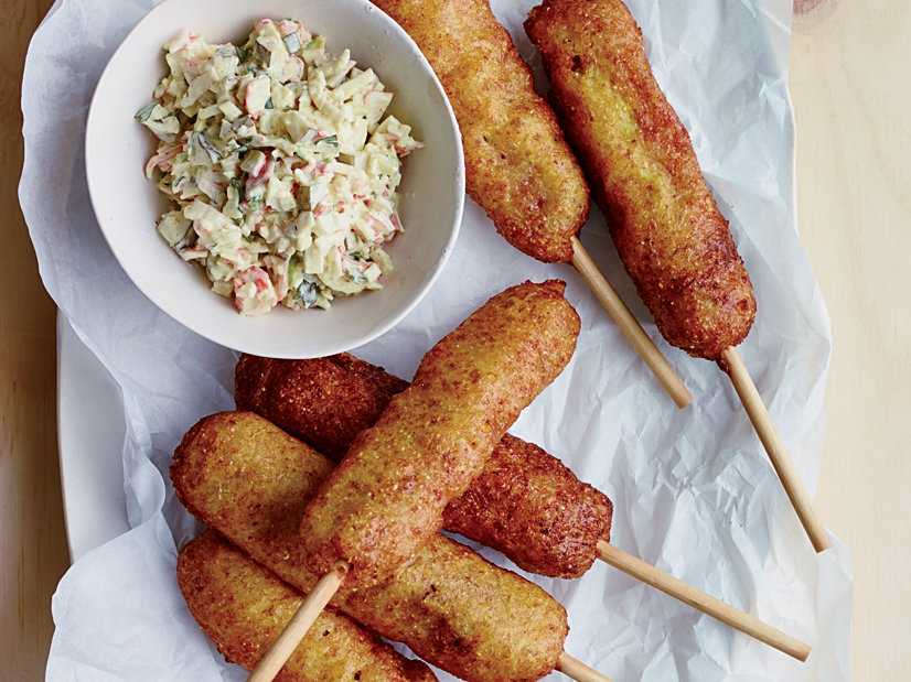Corn Dogs with Krab Relish