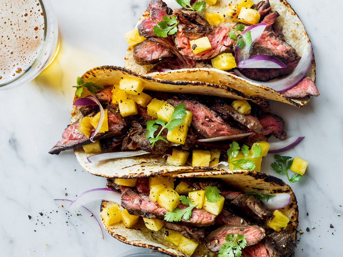 Steak tacos with pineapple recipe justin chapple food for Suggestions for sides for fish tacos