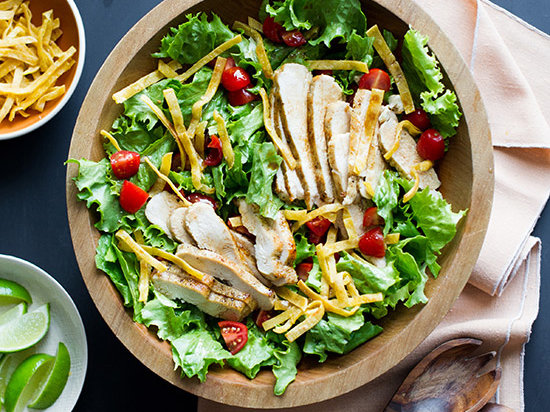 Sautéed-Chicken Salad with Soy Lime Vinaigrette Recipe ...