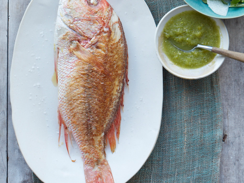 Snapper in Chile-Lime Sauce