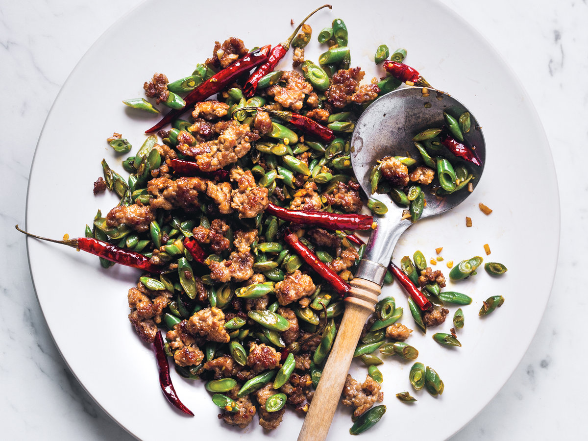 Sichuan-Style Green Beans with Pork Recipe - Justin ...