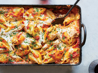 Pork-and-Ricotta-Stuffed Jumbo Shells