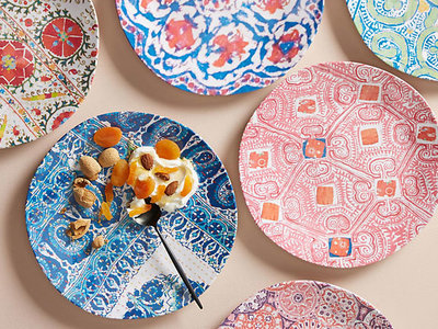 Anthropologie Tula Melamine Dinner Plate