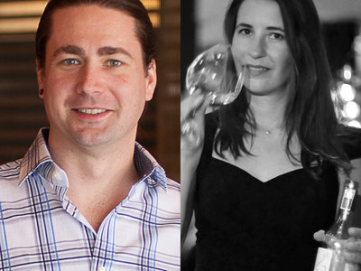 David Speer of Ambonnay Bar and Laura Maniec