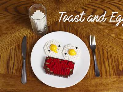 lego breakfast toast and eggs