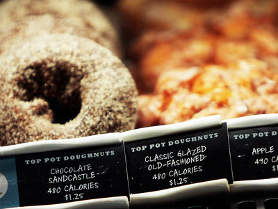 calories listed on menues in chain restaurant