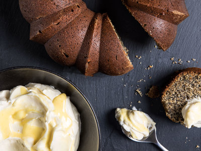 Poppy Seed Cake with Citrus Curd Whipped Cream