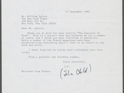 William Safire letter