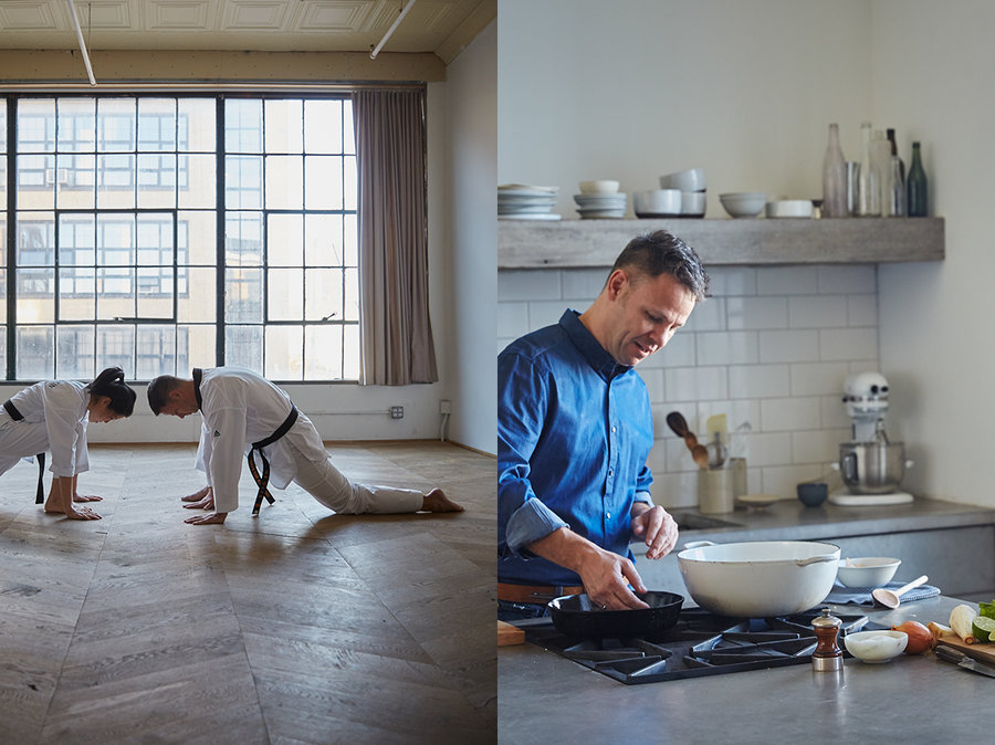 Two Black Belts in the Kitchen