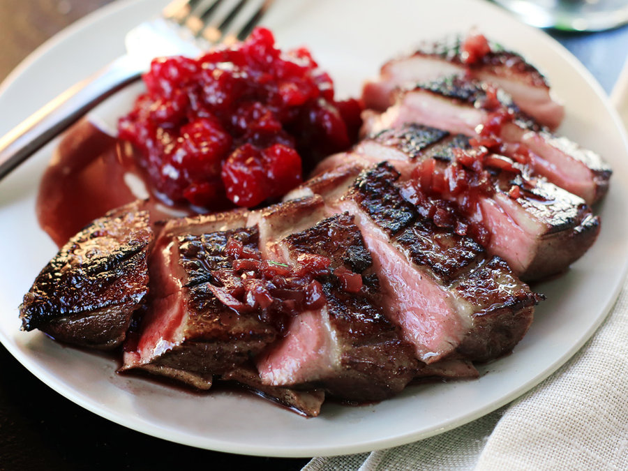 Sous Vide Duck Breast with Port