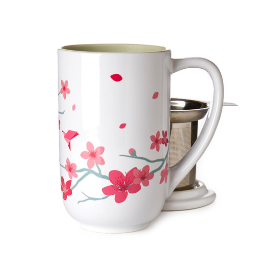 DAVIDsTEA Cherry Blossom Color Changing Nordic Mug