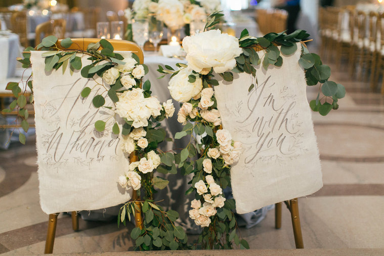 Spice Up Your Bride & Groom Chairs