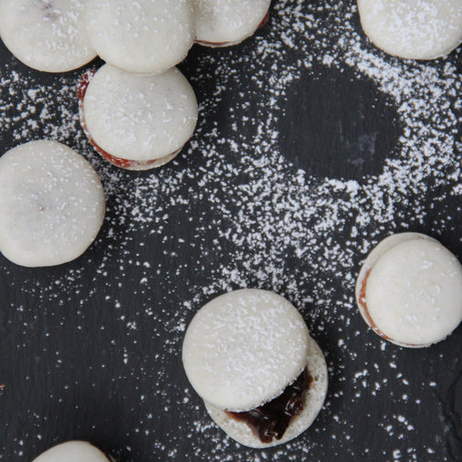 Almond Flour-Fig Macarons