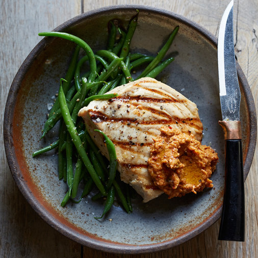 Swordfish with Romesco Sauce
