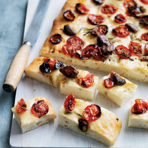 Tomato and Garlic Confit Focaccia