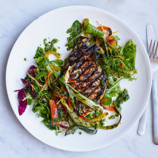 Grilled Snapper with Four-Herb Gremolata