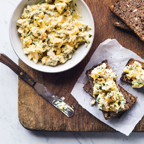 Egg Salad with Herbs and Pickles