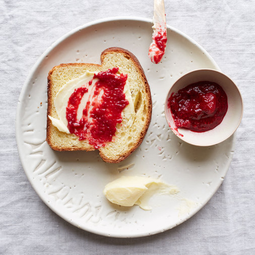Extra Rich Brioche; Fresh Raspberry Preserves; Cultured Butter