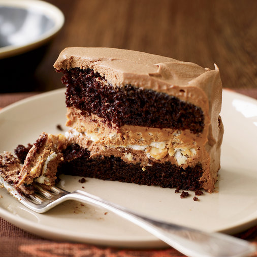 Crunchy Milk Chocolate Peanut Butter Layer Cake