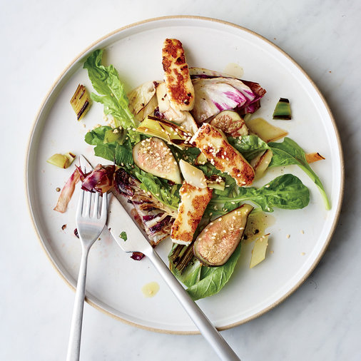 Charred Vegetable Salad with Halloumi