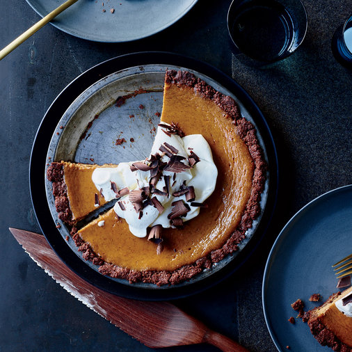 Day 12: Pumpkin Cream Pie in a Chocolate Crust