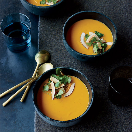 Sweet Potato-Coconut Soup with Thai Curry